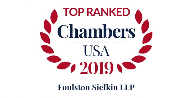 Foulston Siefkin Firm and Attorneys Earn Top Rankings in Research Publication Chambers USA 2019