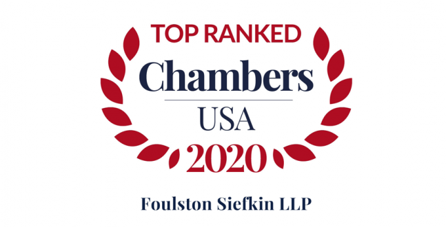 Foulston Siefkin Firm and Attorneys Earn Top Rankings in Research Publication Chambers USA 2020