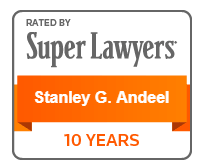 Rated by Super Lawyers Stanley G. Andeel 10 Years